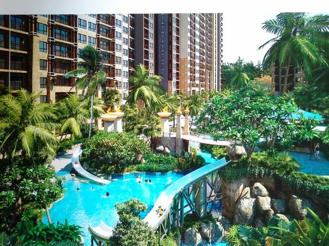 FOR SALE: SAVANNA SANDS CONDO RESORT, STUDIO-PENTHOUSE, JOMTIEN.